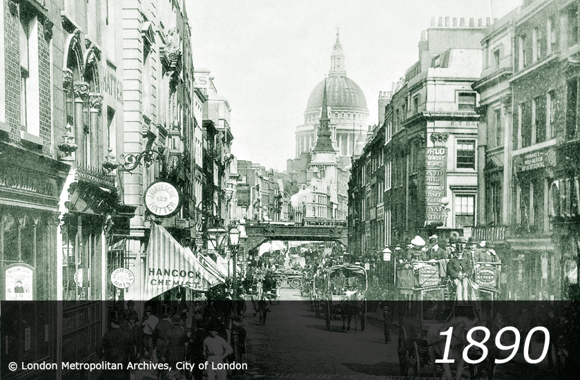Ludgate Hill - 1890 -
