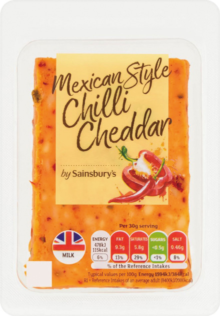 Mexican Style Chilli Cheddar Cheese